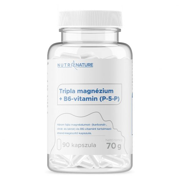Nutri Nature - Triple Magnesium + B6 P-5-P 90 caps